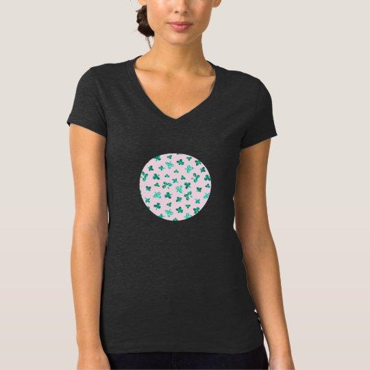 Clover Leaves Women's Jersey V-Neck T-Shirt
