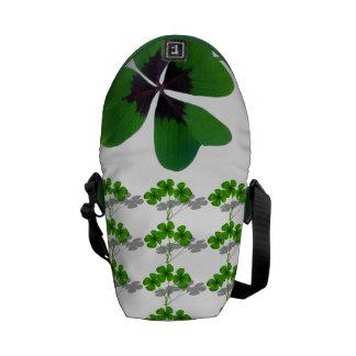 Clover Luck Lucky St. Patrick's Destiny Destiny's Messenger Bag