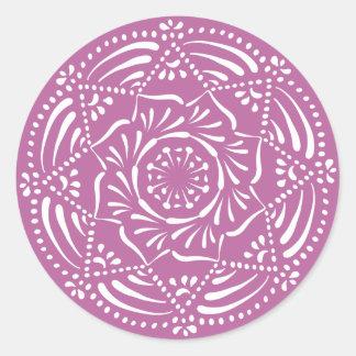 Clover Mandala Classic Round Sticker