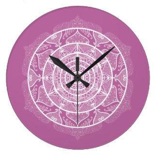 Clover Mandala Large Clock