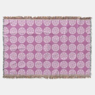 Clover Mandala Throw Blanket