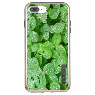 Clover Meadow Leaves Spring Rain Dew Green Leaf Incipio DualPro Shine iPhone 8 Plus/7 Plus Case