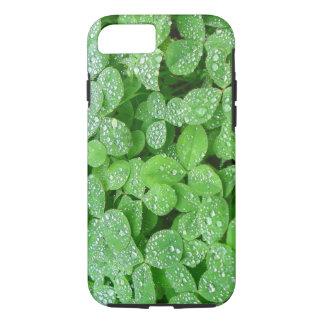 Clover Meadow Leaves Spring Rain Dew Green Leaf iPhone 7 Case