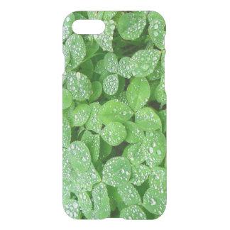 Clover Meadow Leaves Spring Rain Dew Green Leaf iPhone 8/7 Case