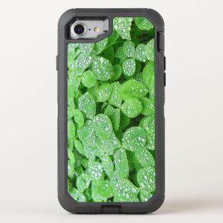 Clover Meadow Leaves Spring Rain Dew Green Leaf OtterBox Defender iPhone 7 Case