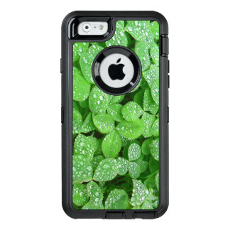 Clover Meadow Leaves Spring Rain Dew Green Leaf OtterBox Defender iPhone Case