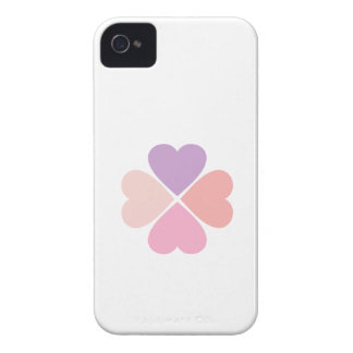 Clover of type of hearts day of San Valentin iPhone 4 Cases