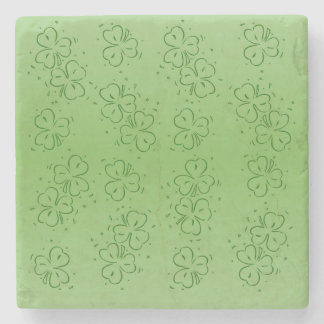 Clover Over and Over Stone Coaster