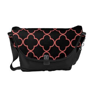 Clover Pattern 1 Cayenne Messenger Bags