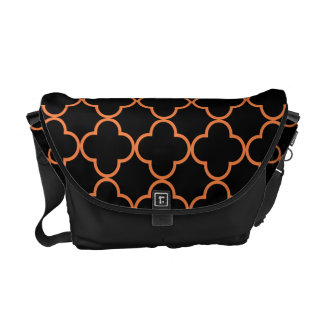 Clover Pattern 1 Celosia Orange Courier Bag