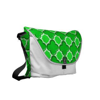 Clover Pattern 2 Green Messenger Bags