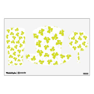 Clover Printed St. Patrick's Day Wall Decals