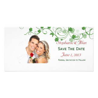 Clover Save The Date PhotoCards Photo Card Template