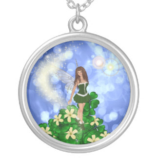 Clover - Shamrock Fairy Silver Plated Necklace