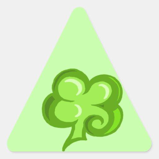 Clover Triangle Sticker