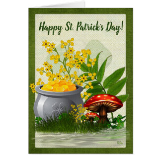 Clover Trail Whimsical Folk Art PERSONALIZED Card