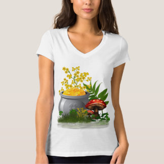 Clover Trail Whimsical Folk Art T-Shirt