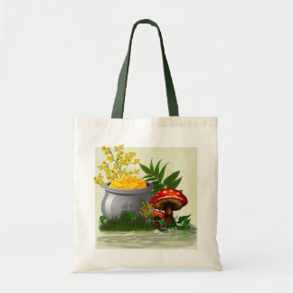 Clover Trail Whimsical Folk Art Tote Bag