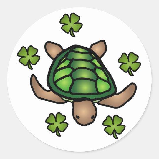 Clover & Turtle Sticker