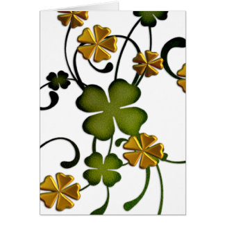 Clover Vine Irish Happy Birthday Greeting Card