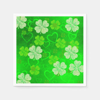 Clovers and Hearts Paper Napkin