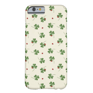 Clovers and ladybugs pattern barely there iPhone 6 case