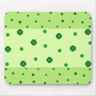 Clovers and polka dots mouse pad