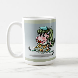 CLOVIS ALIEN CARTOON 15 oz Classic White Mug