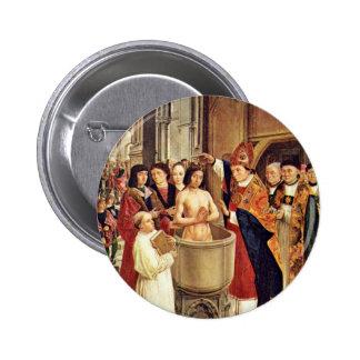 Clovis' Baptism By Meister Des Heiligen Ägidius (B Pins