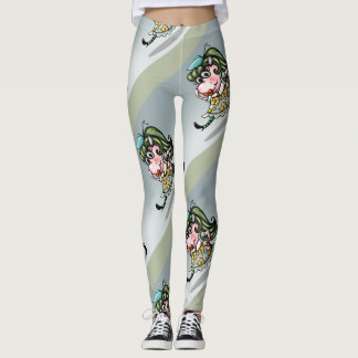CLOVIS CUTE ALIEN CARTOON LEGGINGS