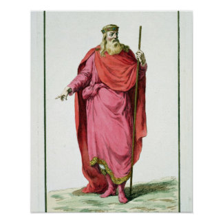 Clovis I (481-511) King of the Salian Franks from Poster