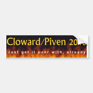 Cloward & Piven 2016 Bumper Sticker