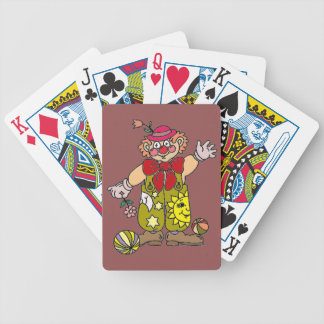 Clown 1 bicycle playing cards