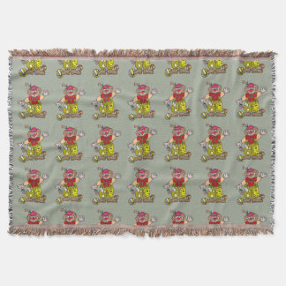 Clown 1 throw blanket