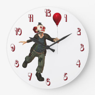 Clown 3 Wall Clock