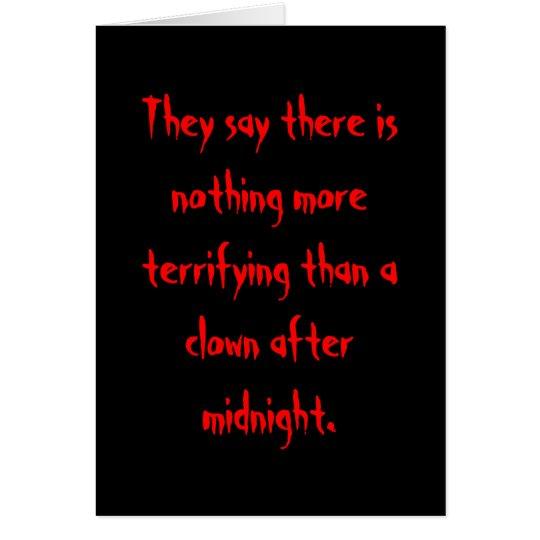 Clown After Midnight Card