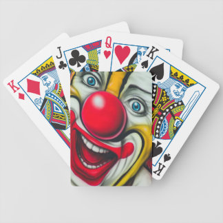 Clown Bicycle Playing Cards