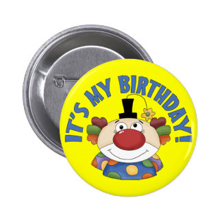 Clown Birthday 2 Inch Round Button