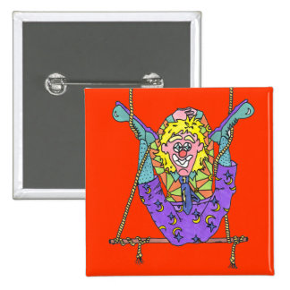 Clown Capers Button Pin Badge