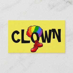 Clown entertainer business cards profile cards zazzle ca clown childrens entertainer circus business card colourmoves