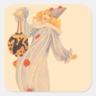 Clown Costume Trick Or Treat Square Sticker