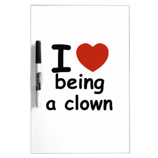 clown design dry erase whiteboards