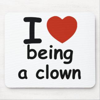 clown design mouse pad