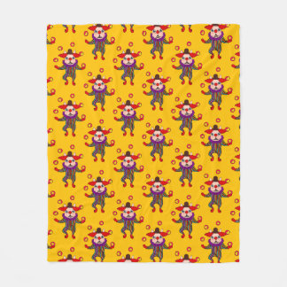Clown Dog Frenchie entertains you with his love Fleece Blanket