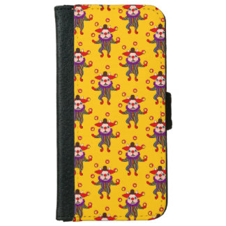 Clown Dog Frenchie entertains you with his love iPhone 6 Wallet Case