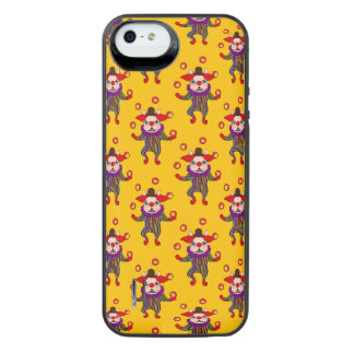 Clown Dog Frenchie entertains you with his love iPhone SE/5/5s Battery Case