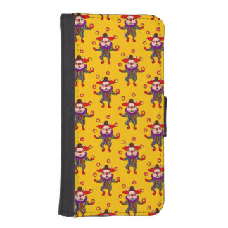 Clown Dog Frenchie entertains you with his love iPhone SE/5/5s Wallet Case
