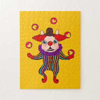 Clown Dog Frenchie entertains you with his love Jigsaw Puzzle