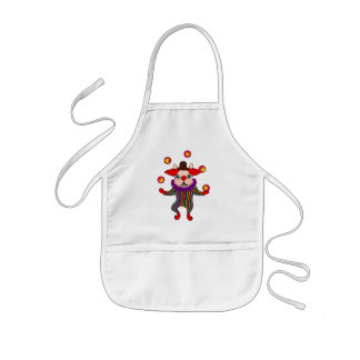 Clown Dog Frenchie entertains you with his love Kids Apron