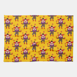 Clown Dog Frenchie entertains you with his love Kitchen Towel